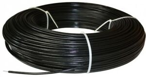 Polyplus Safety Coated High Tensile Horse Fence Wire 1320 Ft 12 5 gauge Black