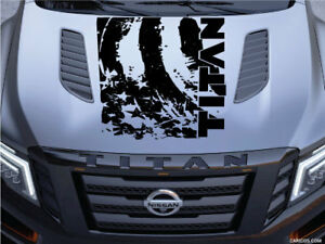Distressed American Nissan Titan Logo Hood Truck Vinyl Decal Graphic Flag Pickup