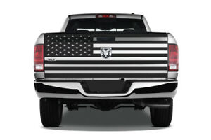 American Flag Tailgate Pickup Truck Vinyl Decal Graphic Chrome Reflective Option