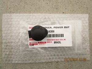 Fits 16 19 Toyota Tacoma Dash Power Outlet Cover Black Brand New