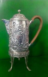 Paul Storr Georgian Antique English Sterling Silver Coffee Pot And Stand 1796