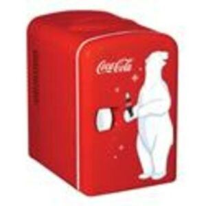 Coca cola Personal 6 Can Portable Mini Fridge With Warming Red