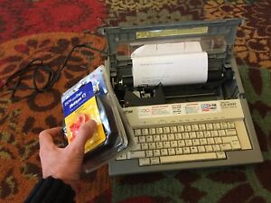 Vintage Brother Correctronic Electric Typewriter Gx 6000 Usa W spare Ribbons