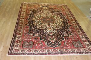 Vintage 8x11 Bakhtiar Semi Antique Wool Hand Knotted Persian Oriental Rug