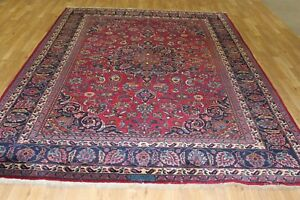 Vintage 7x10 Khotrasan Semi Antique Wool Hand Knotted Persian Oriental Rug