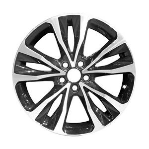 75208 Reconditioned Oem Factory 17in Aluminum Wheel Machined With Black