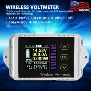 50 300a Wireless Color Digital Dc Voltmeter Ammeter Power Meter Watt Tester Usa