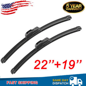 22 19 All Season Bracketless J Hook Windshield Wiper Blades Oem Quality New