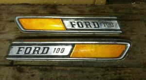 Vintage Ford F 100 Truck Hood Emblems Original Ford 1969