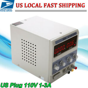 1 3a 0 15v Adjustable Dc Power Supply Precision Variable Dual Digital Lab Test