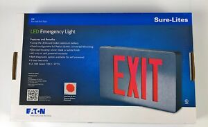 Sure lites Led Exit Sign Light Die Cast Aluminum Housing 120 240 277