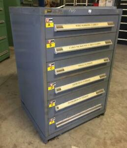 Stanley Vidmar 6 Drawer Industrial Tool Cabinet 30 X 27 3 4 X 44 1 4