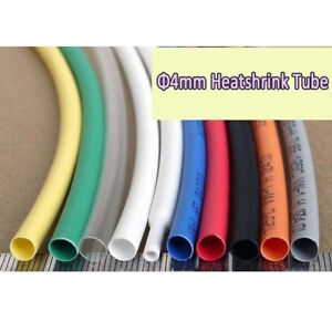 4mm Heatshrink Tube Heat Shrink Tubing Cable Sleeving Wire Wrap Sleeve 2 1 Ratio