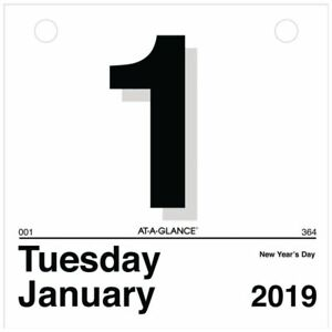 At a glance 2019 Daily Wall Calendar Refill 6 X 6 Mini One Page Per Day