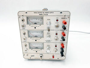 Power Designs Inc Tp343b Triple Output Regulated Dc Power Supply