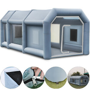 33ft Inflatable Paint Tent Spray Paint Booth Giant Car Workstation Fan Spray Usa