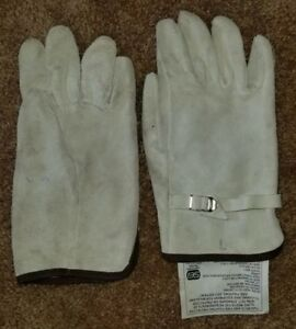 Wild Land Firefighter Certified Leather Work Gloves Size Large