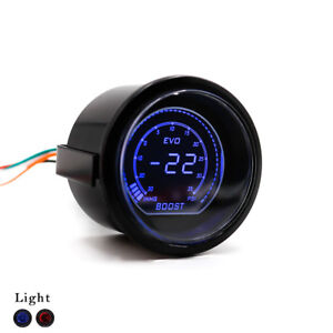 2 52mm Evo Auto Car Digital Turbo Boost Gauge Psi Meter Sensor Pressure Kit
