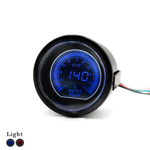 2 52mm Universal Evo Led Digital Water Temp Temperature Gauge Meter With Sensor
