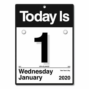 Today Is Wall Calendar 9 3 8 X 12 White 2019