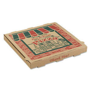 Corrugated Pizza Boxes 14 X 14 X 1 3 4 Kraft 50 carton