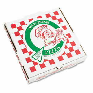 Takeout Containers 14in Pizza White 14w X 14d X 2 1 2h 50 bundle