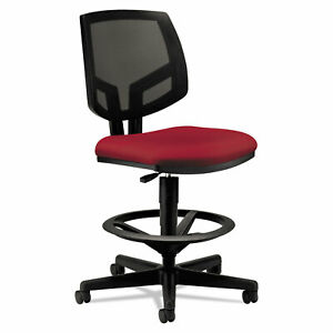 Volt Series Mesh Back Adjustable Task Stool Crimson