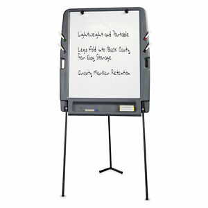 Portable Flipchart Easel With Dry Erase Surface Resin 35 X 30 X 73 Charcoal