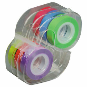 Removable Highlighter Tape 1 2 X 720 Assorted 6 pk
