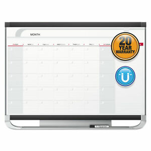 Prestige 2 Magnetic Total Erase Monthly Calendar 36 X 24 Graphite Color Frame