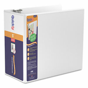 Quickfit D ring View Binder 3 Rings 5 Capacity 11 X 8 5 White