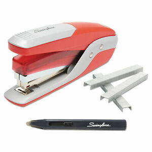Quick Touch Stapler Value Pack 28 Sheet Capacity Red silver