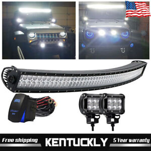 For Jeep Grand Cherokee 1999 2004 52 Curved Led Light Bar Upper Roof Offroad