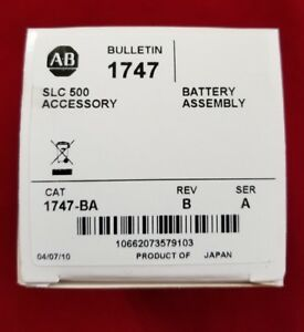 New Allen Bradley Accessory Battery Assembly 1747 ba Slc 500 Lithium Battery