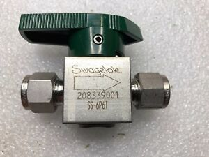Swagelok Ss 6p6t Quarter turn Instrument Plug Valve 3 8 Tube Fitting