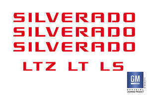 2007 2018 Chevy Silverado 1500 Emblem Overlay Decal Letters red Set Of 6