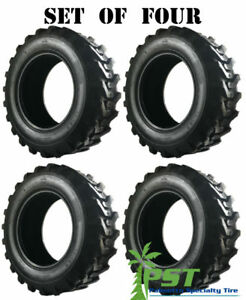 Set Of Four 10x16 5 Skid Steer Tire 10 16 5 Power King Ldr Free Shipping