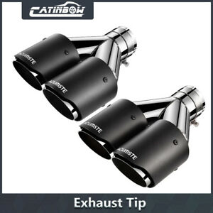 2 Exhaust Tips 2 5 Inlet 3 5 Dual Outlet 9 5 Long Muffler Pipe Carbon Fiber
