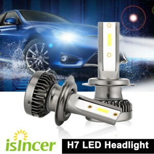 Pair Isincer H7 Led Mini Headlight Bulbs 110w 25200lm Cob Lamp Drl 6000k White