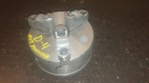 6 3 Jaw Lathe Chuck Self Centering D 1 4 Cam Lock Spindle