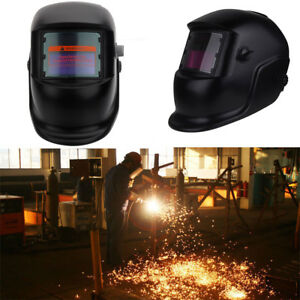Black Solar Powered Auto darkening Welding Helmet Grinding Tig Welder Mask D2k3q