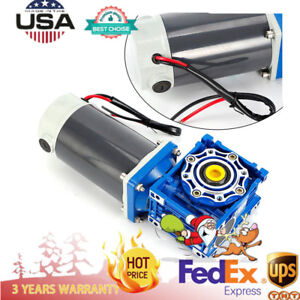 Dc 24v 12v Worm Geared Reducer Electric Motor High Power 90w 300w Speed Optional