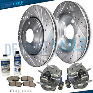 Front Wheel Bearings Drilled Slot Brake Rotors Chevy Impala Pontiac Grand Am