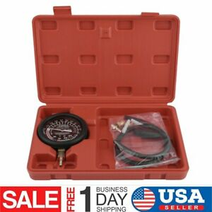 Fuel Pump Vacuum Tester Gauge Leak Carburetor Valve Car Diagnostics Tools Kit Wo