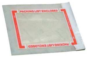 3m Scotch Pad 8240 Packing List Tape 5 In X 6 In 500 Pouches Per Roll 1 Case