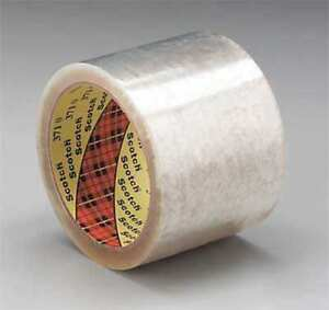 Scotch T910371 Clear 371 Carton Sealing Tape 2 X 1500 Yd pack Of 6