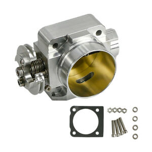 70mm Silver Aluminum Car Turbo Throttle Body For Mitsubishi Evo 4 5 6 Uprated