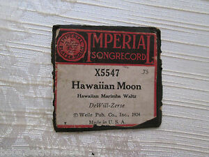 Imperial Songrecord Player Piano Roll Hawaiian Moon X5547