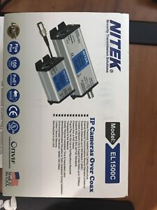 Brand New Sealed Box Nitek El1500c Ip Cameras And Poe Free Shipping