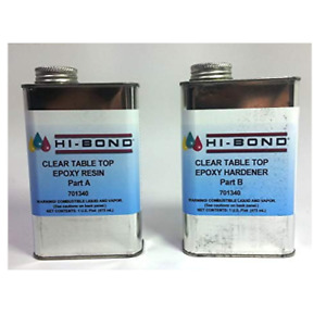 Hi bond Boat Marine Clear Table Top Epoxy System Quart Kit For Bar Tops Tabletop